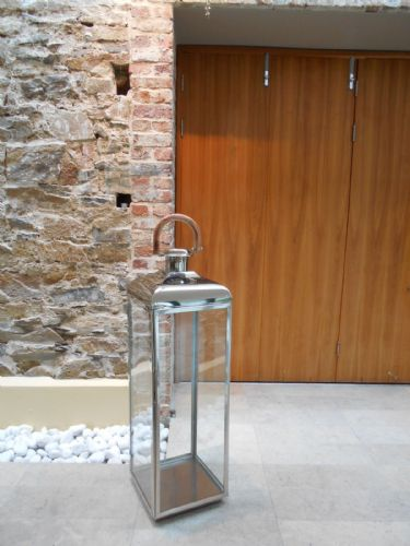 Extra Large Stainless Steel Square Lantern